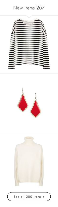 """""""New items 267"""" by cavallaro ❤ liked on Polyvore featuring white jersey, jewelry, earrings, red earrings, red stone jewellery, red jewelry, earring jewelry, red stone earrings, tops and sweaters"""