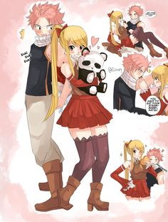 Fairy tail Natsu and lucy Valentine's day Doki doki Fairy Tail Lucy, Fairy Tail Nalu, Fairy Tail Fotos, Fairy Tail Family, Fairy Tail Couples, Fairy Tail Ships, Fairytail, Gruvia, Nalu Comics