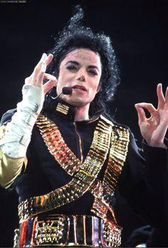 Michael Jackson in Jam during the Dangerous Tour