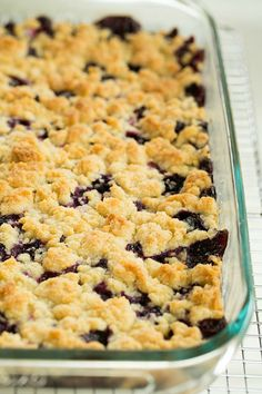 Blueberry Crumb Bars by @browneyedbaker :: www.browneyedbaker.com