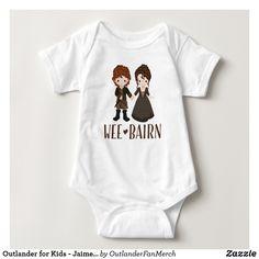 "Outlander for Kids - Jaime & Claire ""Wee Bairn"" Baby Bodysuit"