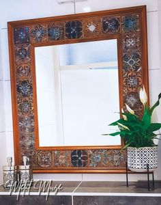 Pewter, Oversized Mirror, Muse, Metal, Furniture, Home Decor, Tin, Decoration Home, Room Decor