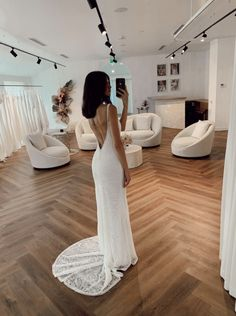 Scottie's unique lace and plunging back will mesmerise you into a beautiful trance. Wedding Dress With Veil, Wedding Gowns, Ball Gown Dresses, Bridal Dresses, Bride Book, Affordable Wedding Dresses, Magical Wedding, Industrial Wedding, Scottie