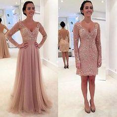 Vestido de festa 2 em 1, onde o vestido é longo e depois fica curto, feito em…