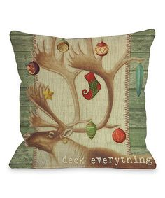 Take a look at this 'Deck Everything' Throw Pillow by OneBellaCasa on #zulily today! $35 !!
