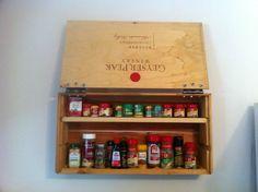 Wine Box Spice Rack