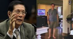 """Former Senate President Juan Ponce Enrile said in this video, """"COVID go away"""" and this went viral on social media. To My Parents, Video Go, He Said That, Dead To Me, Going Away, Thank God, Presidents, Social Media, Sayings"""