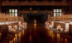 Winter wedding aisle- Horn wedding