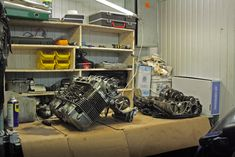 That was a year when one friend of mine appeared in my former garage with Honda (SOHC) engine Honda Cb750, Engine Rebuild, F1, Engineering, Garage, Carport Garage, Garages, Technology, Car Garage