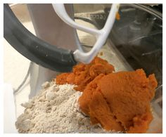 Pumpkin Spiced Muffins - ingredients in the mixer