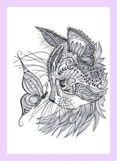 ausmalbilder muster katzen | kunst | pinterest | mandala