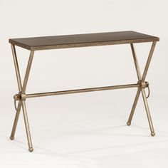 Piper X-Base Accent Table | World Market $80 For the powder room?