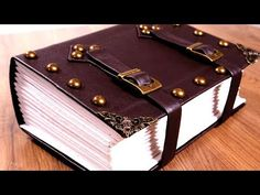 Make an EPIC, Giant TOME - Bookbinding a Spellbook Journal - YouTube