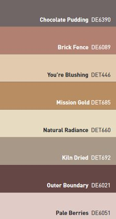 Dunn-Edwards 2017 Color Trends Palette - Warm Neutrals