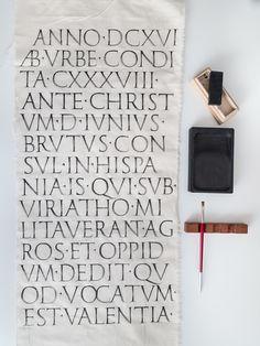 Roman Capitals calligraphy - Joan Quirós