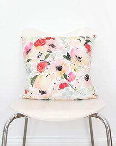 Yao Cheng Watercolor throw pillow