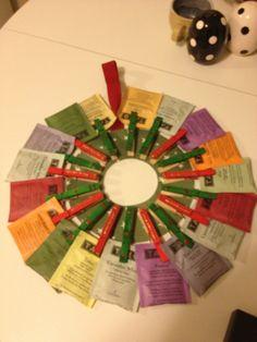 I made a tea wreath for a secret santa idea.