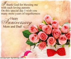 Happy anniversary messages for parents u anniversary wishes