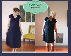 Recycled Fashion: Maternity $5 Jersey Dress Refashion