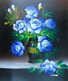 painting blue flowers - Google zoeken