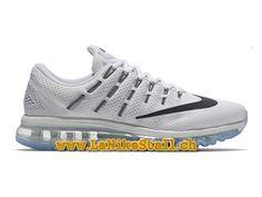 Nike Air Max 2016 Blanc Noir Officiel Basket Pas Cher Chaussures Pour Homme  806771-100 025cdbf4d92f