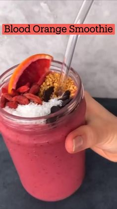 Healthy Juice Recipes, Fruit Smoothie Recipes, Easy Smoothies, Healthy Juices, Smoothie Drinks, Healthy Drinks, Healthy Snacks, Orange Smoothie, Smoothie Diet