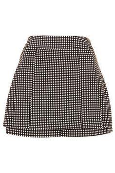 Charcoal Gingham Mini Kilt Skort - Trousers & Shorts  - New In This Week