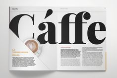 Typography Magazine by Leone Danieli on Creative Market - PintoPin Page Layout Design, Graphisches Design, Book Design, Graphic Design, Newspaper Design Layout, Magazine Page Layouts, Magazine Layout Design, Magazine Design Inspiration, Layout Inspiration