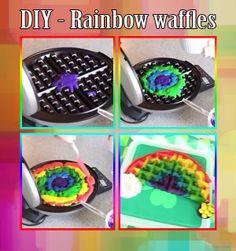 Tasty Rainbow Waffles