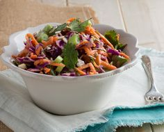 Crunchy Thai Salad with Coconut-Lime Dressing -- this quick, all-in-one meal is designed with targeted nutrition for H-Burn (and it's great for Phase 3 of the Fast Metabolism Diet), too. Get the recipe on our blog.