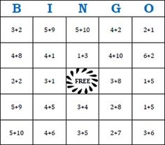 Here's a site with a huge number of addition bingo cards, call numbers, and check sheets.