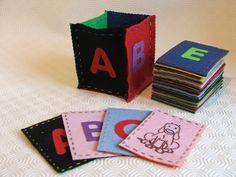 Felt flashcards
