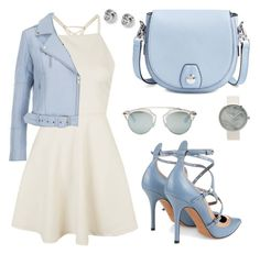 pastel by simonabartoletti on Polyvore featuring polyvore fashion style Topshop Gestuz Valentino rag & bone FOSSIL Christian Dior clothing