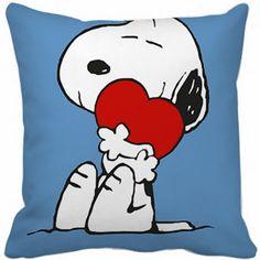 Capa Almofada - Snoopy in Love