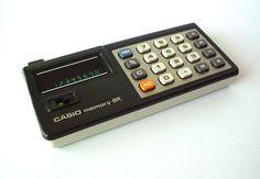 Viintage 70's Casio Memory 8R Calculator