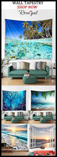 Sea Wall Tapestry with beautiful scenery Rosegal tapestries tapestry trippy anim. Sea Wall Tapestry with beautiful scenery Rosegal tapestries tapestry trippy animal tapestry tapestr Marble Tapestry, Tapestry Bedroom, Tapestry Wall Hanging, Tapestry Weaving, Tapestry Gold, Cool Tapestries, Modern Tapestries, Beautiful Landscapes, Lights