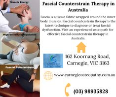 Osteopathic manipulative treatment is a group of osteopathic technique or session of osteopathic treatment. It is one of the most effective techniques to diagnose and treat any injury. Visit carnegieosteopathy.com.au for the best osteopathic manipulative treatment in Australia. Osteopathic Doctor, Treatment For Back Pain, Dry Needling, Doctor In, Neck Pain, Clinic, Therapy, Muscle, Australia