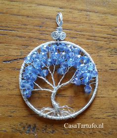 19 best wire tree pendants made by sabine stroo images on pinterest wire tree pendant 11lver with blue beads 4cm made by aloadofball Choice Image