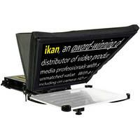 ikan Elite iPad Teleprompter - A handy way to make use of your iPad in your video production workflow. This plug-n-play uses ikan's Elements camera support with a sturdy prompter hood to function as a through-the-glass teleprompter or a rod-based camera support by using only the included base plate.