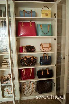 Cubbies for handbags