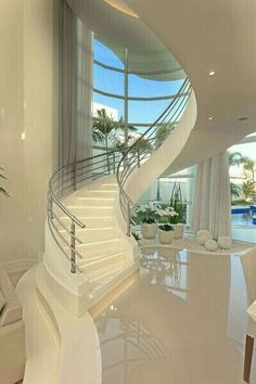 Need inspiration? See this beautiful luxury homes and dream big! Need inspiration? See this beautiful luxury homes and dream big! Home Room Design, Dream Home Design, Modern House Design, Dream House Interior, Luxury Homes Dream Houses, Modern Mansion Interior, Staircase Design, House Goals, Dream Rooms