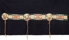 American Indian Art:Beadwork and Quillwork, A CROW OR PLATEAU QUILLED AND BEADED BUFFALO HIDE BLANKET STRIP. c.1860... Image #3