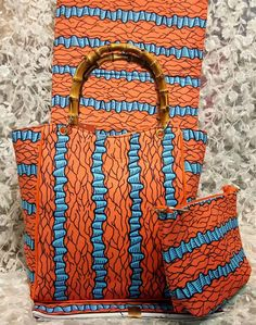 Super hollandais wax in coral red with teal bones pattern 6yards match african wax bag for african choir partyAug-7-2017)