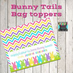 Bunny Bags, Bag Toppers, Diy Party, Party Ideas, Goodie Bags, Perfect Party, All Design, Happy Easter, Party Invitations