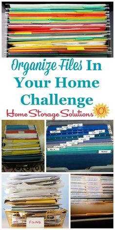 How To Organize Files And Create A Home Filing System Keep All Of The Household
