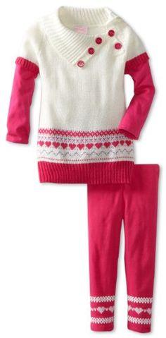 BESTSELLER! Nannette Girls 2-6X Printed Playwear 2 Pack Sweater Set $13.29