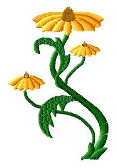 Camomile Embroidery Design