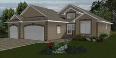 Stylish house plans with 3 car attached garage design ideas. Basement House Plans, Ranch House Plans, Garage Design, House Design, 3 Car Garage, Dream House Exterior, Small House Plans, House Layouts, Large Homes