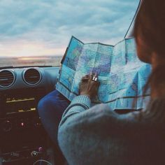 What's with the map?, map reading on a road trip.