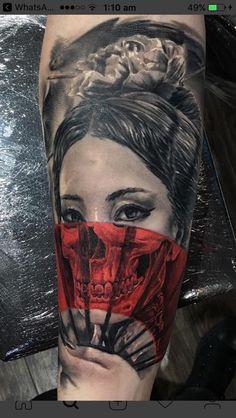 Japanese Geisha Tattoo, Japanese Tattoo Designs, Japanese Sleeve Tattoos, Geisha Tattoos, Geisha Tattoo For Men, Forarm Tattoos, Side Tattoos, Body Art Tattoos, Neck Tattoo For Guys